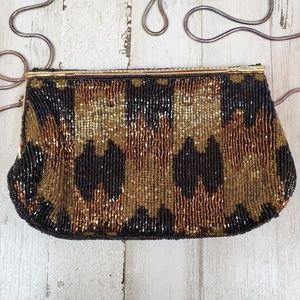 Vintage Beaded Evening Clutch Bag EUC